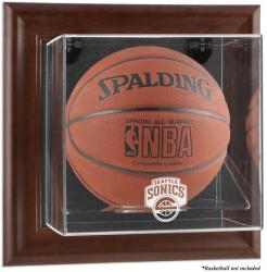 Seattle SuperSonics Brown Framed Wall-Mounted Basketball Case - Mounted Memories