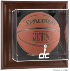 Washington Wizards Brown Framed Wall-Mounted Team Logo Basketball Display Case