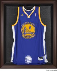 Golden State Warriors Brown Framed Jersey Display Case