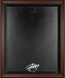 Minnesota Wild Brown Framed Logo Jersey Display Case - Mounted Memories