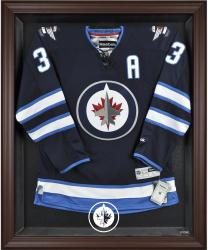 Winnipeg Jets Brown Framed Logo Jersey Display Case - Mounted Memories