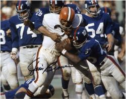 Cleveland Browns Jim Brown Autographed 8'' x 10'' vs. New York Giants Photograph - Mounted Memories