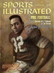 Jim Brown Cleveland Browns Autographed Sports Illustrated Secrets of a Fullback Magazine