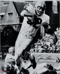 """Jim Brown Cleveland Browns Autographed 16"""" x 20"""" Vertical in White Photograph"""