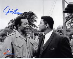 Jim Brown Cleveland Browns Autographed 8'' x 10'' with Muhammad Ali Photograph - Mounted Memories