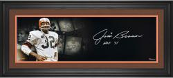 Jim Brown Cleveland Browns Framed Autographed 10'' x 30'' Film Strip Photograph-Limited Edition of 32 - Mounted Memories