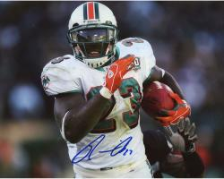 BROWN, RONNIE AUTO (DOLPHINS/RUNNING/HORZ) 8X10 PHOTO - Mounted Memories