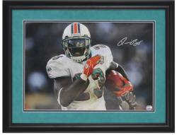 Ronnie Brown Miami Dolphins Framed Autographed 16'' x 20'' Photograph - Mounted Memories
