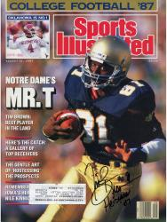 Tim Brown Autographed Sports Illustrated Magazine - Heisman 87