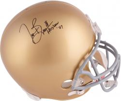 Tim Brown Notre Dame Fighting Irish Autographed Riddell Replica Helmet With Heisman 87 Inscription