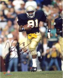 "Tim Brown Notre Dame Fighting Irish Autographed 8"" x 10"" Photograph with Heisman 87 Inscription"