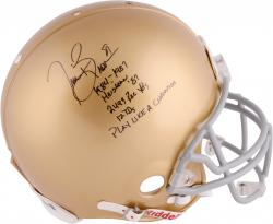 Tim Brown Autographed Notre Dame Authentic Helmet - Limited Edition #2-80