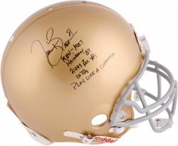 Limited Edition Tim Brown Signed Notre Dame Proline Helmet - LE #81