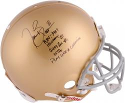 Tim Brown Signed Notre Dame Authentic Helmet - Limited Edition #1 of 81