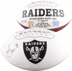 Tim Brown Autographed Oakland Raiders Logo Ball