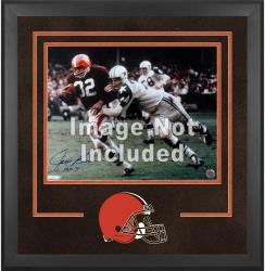 Cleveland Browns Deluxe 16'' x 20'' Horizontal Photograph Frame with Team Logo - Mounted Memories