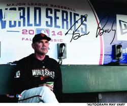 "Bruce Bochy San Francisco Giants Autographed 16"" x 20"" 2014 World Series Photograph"