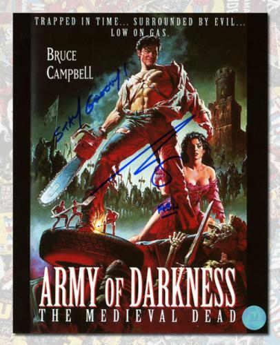 Bruce Campbell Signed Photo - Ash Army of Darkness Movie Poster 8x10
