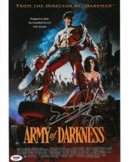 Bruce Campbell/Sam Raimi Signed Army of Darkness Auto 11x14 Photo PSADNA#AD22651