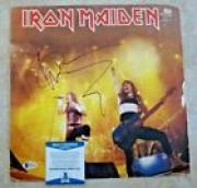 Bruce Dickinson Iron Maiden Autographed Signed LP BAS Beckett Certified READ