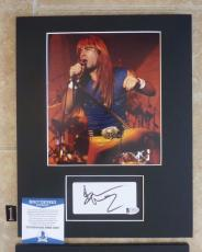 Bruce Dickinson Iron Maiden Signed Autographed 11 x 14 Matted Photo Display #1