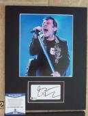 Bruce Dickinson Iron Maiden Signed Autographed 11 x 14 Matted Photo Display #2