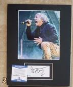 Bruce Dickinson Iron Maiden Signed Autographed 11 x 14 Matted Photo Display #3
