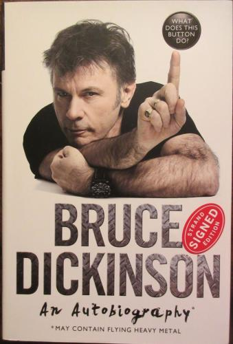 Bruce Dickinson Iron Maiden Signed Book - Beckett BAS