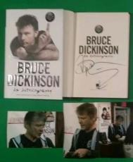 "Bruce Dickinson Signed Autobiography Book ""what Does This Button Do"" Iron Maiden"