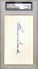 Bruce Drake Authentic Autographed Signed 3x5 Index Card Oklahoma Sooners PSA/DNA