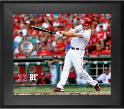 "Jay Bruce Cincinnati Reds Framed 20"" x 24"" Gamebreaker Photograph with Game-Used Ball"