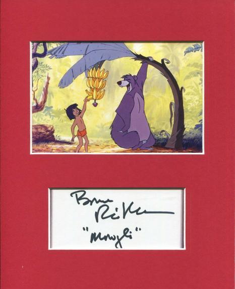 Bruce Reitherman Disney The Jungle Book Mowgli Signed Autograph Photo Display