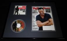Bruce Springsteen 16x20 Framed 2016 Rolling Stone Magazine & Hits CD Display