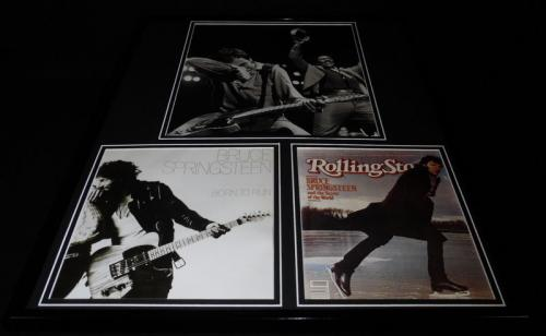 Bruce Springsteen 16x20 Framed Rolling Stone / Born to Run Cover Display