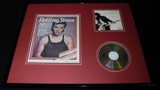 Bruce Springsteen 16x20 Framed Rolling Stone Cover & Born to Run CD Display