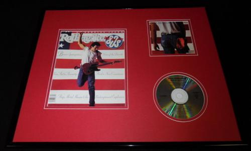 Bruce Springsteen 16x20 Framed Rolling Stone Cover & Born to Run CD Set