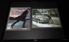 Bruce Springsteen 16x20 Framed Rolling Stone Cover & Photo Display