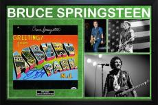 Bruce Springsteen Asbury Park Album LP Autographed Custom Framed Display PSA