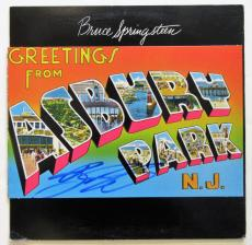 Bruce Springsteen Autographed Asbury Park record Album Signed.  Beckett BAS COA