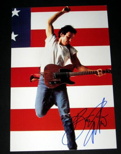Bruce Springsteen Autographed Born in the USA 10x15 Photo - BB COA
