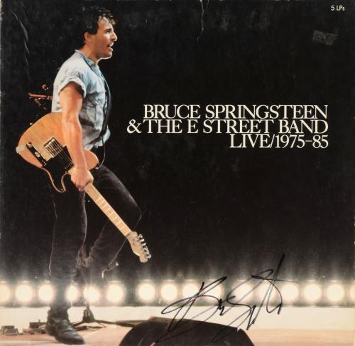 Bruce Springsteen Autographed Bruce Springsteen & The E Street Band Live 1975-85 Album Cover - PSA/DNA LOA