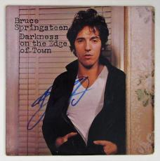 Bruce Springsteen Autographed Darkness record Album Signed.  Beckett BAS COA