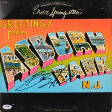 Bruce Springsteen Autographed Greetings from Asbury Park, N.J Vinyl Cover - PSA/DNA LOA