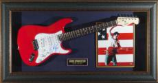 Bruce Springsteen Autographed Guitar Framed Display