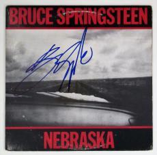 Bruce Springsteen Autographed Nebraska record Album Signed  Beckett BAS COA