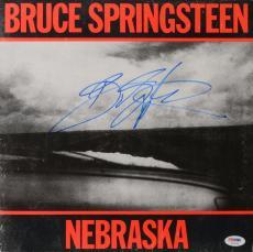 Bruce Springsteen Autographed Nebraska Vinyl Cover - PSA/DNA LOA