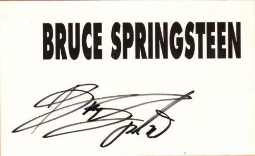 Bruce Springsteen Autographed Signed 8x5 Name Paper UACC RD COA AFTAL