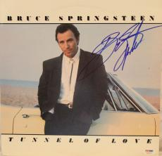 """BRUCE SPRINGSTEEN Autographed """"Tunnel Of Love"""" Album LP PSA/DNA #AC04734"""