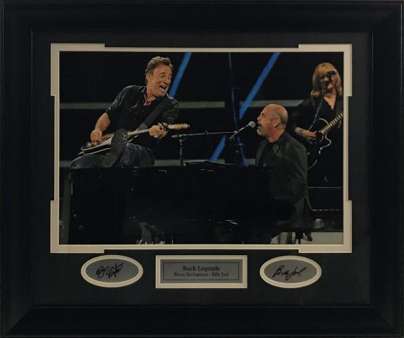 Bruce Springsteen & Billy Joel Framed Photo