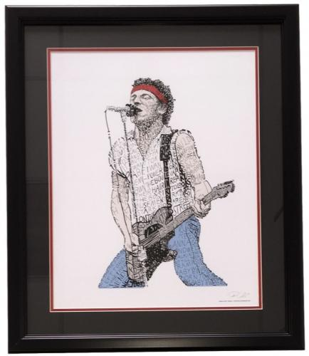 Bruce Springsteen Born in the U.S.A. Framed 16x20 Word Art Photo